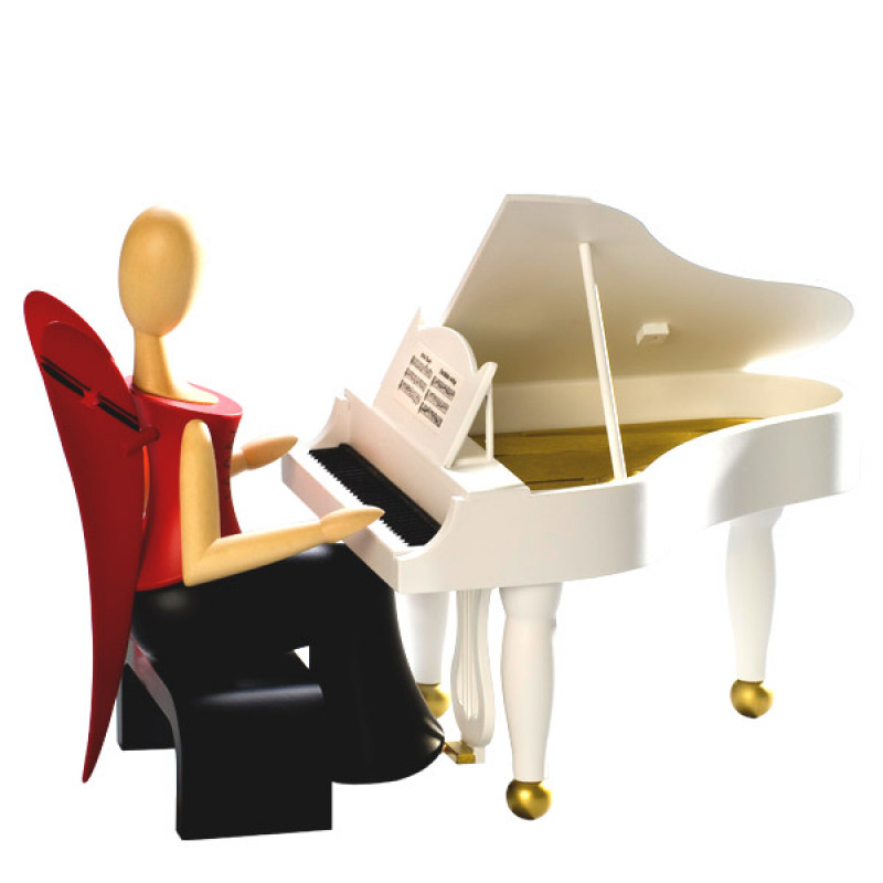 sternkopf engel mit klavier sitzend. Black Bedroom Furniture Sets. Home Design Ideas